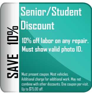 Coupon: Senior and Student